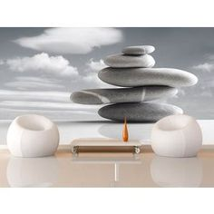 poster xxl giant art zen stone photo photo murale poster grand format 175x115 cm art et. Black Bedroom Furniture Sets. Home Design Ideas