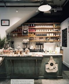 Haven's Kitchen, NYC | Lonny Magazine Pipe wood shelves & subways