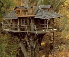 Tree houses are so magical.