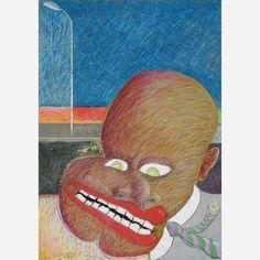 Cildo Meireles<br>Pastel sobre papel<br>70 x 50 cm.