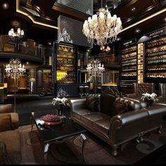 trendy home library den man cave Cigar Lounge Decor, Cigar Lounge Man Cave, Man Cave Room, Man Cave Home Bar, Home Design, Home Interior Design, Design Design, Design Ideas, Casa Magna