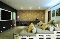 Basement Entertainment Room Ideas With Cool Home Theater Decoration Design