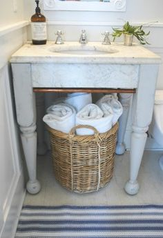Towel Baskets Design Ideas, Pictures, Remodel, and Decor  - Victoria, idea for your bathroom...