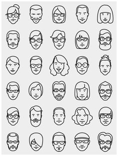 line craft logos Friends Illustration, Face Illustration, Simple Illustration, Portrait Illustration, Character Illustration, Illustrations, Simple Line Drawings, Art Drawings Beautiful, Easy Drawings