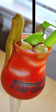 New Orleans Bloody Mary with Homemade Pickled Okra Recipe