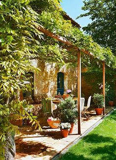 Pergola For Small Patio Outdoor Rooms, Outdoor Gardens, Outdoor Living, Outdoor Decor, Patio Pergola, Backyard Landscaping, Pergola Kits, Pergola Ideas, Backyard Bbq