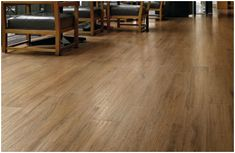 Ceramic tiles that looks like wood. Not that expensive at lowe's and the benefits are described in this article.