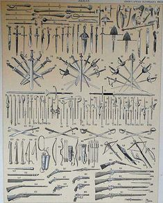 1900 Types of weapons: guns swords armors arches... by JimOldPaper