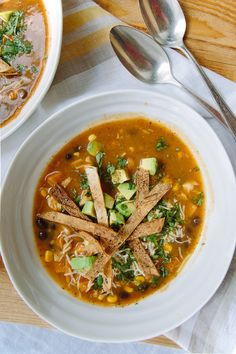 Sweet Potato Chipotle Tortilla Soup