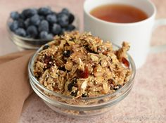 My homemade granola is to die for! Check out the recipe on my blog!