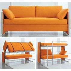 Couch turns into a bunk beds; I feel like a kid would love this for sleepovers..