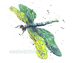 DRAGONFLY Art, dragonfly print, gift for mum