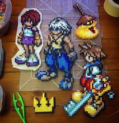 Kingdom Hearts perler beads by this_demi