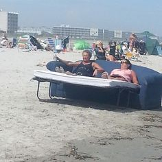 I guess bringing a folding lawn chair to the beach would have been ridiculous