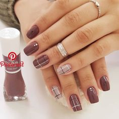 Simple Nail Polish Designs Pictures cool nail art designs for 2019 nagelideen schicke ngel Simple Nail Polish Designs. Here is Simple Nail Polish Designs Pictures for you. Simple Nail Polish Designs these chic nail art designs show how hassl. Classy Nails, Stylish Nails, Trendy Nails, Beautiful Nail Art, Gorgeous Nails, Beautiful Pictures, Cute Acrylic Nails, Cute Nails, Plaid Nails