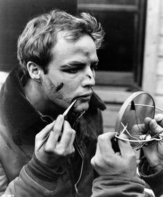 Marlon Brando on the set of On The Waterfront (1954)
