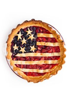 What's more American than pie? Give the dessert a patriotic twist with fresh berries.