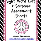"""I use these assessment sheets to assess my students weekly. They simply begin with a word list. Once they """"master"""" the word list (100%% accuracy 2 ..."""