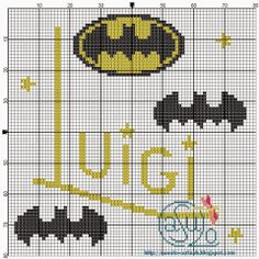 "Delicate Corner: Charts Cross Stitch ""Batman"""