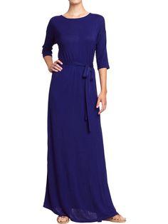 Old Navy   Women's Jersey Tie-Belt Maxi Dresses only $37!