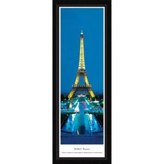 BlakewayPanoramas Icon Eiffel Tower (Twilight) by Gustave Eiffel Framed Photographic Print