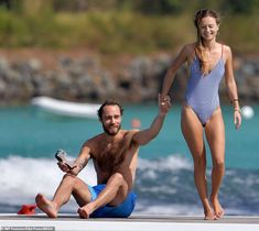 Alizee Thevenet, (right), can be revealed as the beach-bronzed blonde beauty who has captured James Middleton¿s heart. She is a glamorous French multi-lingual financial expert who has a successful career in the City of London Pippa Middleton Bridesmaid Dress, Pippa Middleton Style, James Middleton, Carole Middleton, Middleton Family, Pippa And James, James Matthews, St Barts, Charming Man