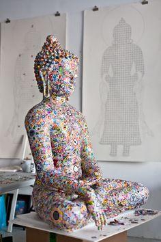 Peaceful Mood... Gonkar Gyatso is a Tibetan artist who is based between NY and London.