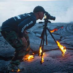 @Kveeks is a photographer without limits, working on top of Lava #earthfocus
