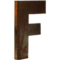 Metal Letter F ($159) ❤ liked on Polyvore featuring home, home decor, letters and metal home decor