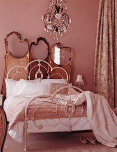 OMG! I have been wanting a layered headboard look! Crazy thing is that is my EXACT same iron bed. LMFAO! Small world.