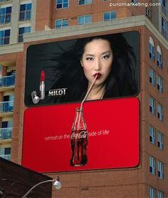 incredible guerrilla billboard by Coca-Cola PD