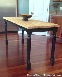 Butcher Block Table DIY