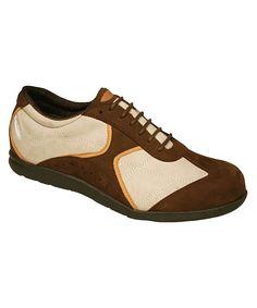 Brown & Sport White Elite Leather Sneaker
