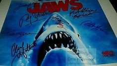 JAWS-Cast-signed-8x10-Autographed-RP-lustre-Photo Movie Photo, It Cast, Hollywood, Signs, Movies, Ebay, Shop Signs, Films, Sign
