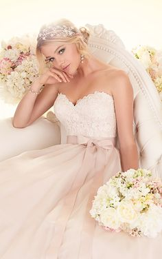 Wedding Dresses - Lace Ball Gown Wedding Dress from Essense of Australia - Style D1702