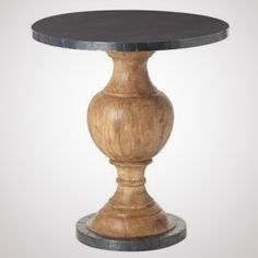 Boothbay Wood and Metal Accent Table (23w x 26h)