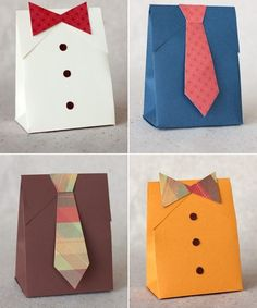 Creative fathers day crafts and unique handmade gift ideas intended for handmade paper crafts for kids Diy Father's Day Gift Box, Tie Gift Box, Father's Day Diy, Diy Box, Diy Father's Day Shirts, Diy Shirt, Men's Shirts, Homemade Gifts, Diy Gifts