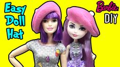 DIY Barbie Doll Hat - How to Make Easy Doll Miniatures Tutorial - Making...