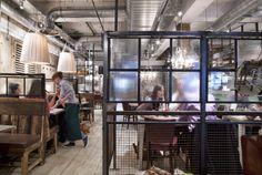 Glass divides. #restaurant