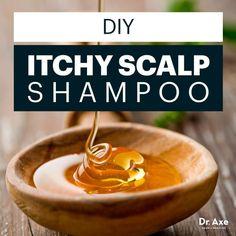 DIY itchy scalp shampoo - Dr. Axe                                                                                                                                                                                 More