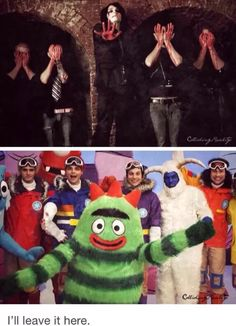 but did anyone notice that in the top picture, Frank, Mikey, Ray, and Bob are Weeping Angels