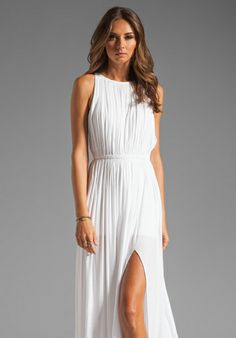 SEN Flaviana Dress in White at Revolve Clothing - $286