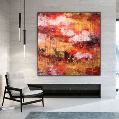 Abstract Acrylic Painting Large Canvas Art Interior Decor image 8 Large Canvas Wall Art, Extra Large Wall Art, Office Wall Art, Home Wall Art, Oversized Wall Art, Colorful Artwork, Large Painting, Texture Art, Contemporary Art