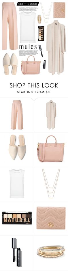 """""""Slip Em On: Mules"""" by glamorous09 ❤ liked on Polyvore featuring Fendi, ThePerfext, St. John, ERTH, NYX, Gucci, Bobbi Brown Cosmetics, Kendra Scott and mules"""