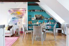 Decoração apartamento feminino cheio de arte