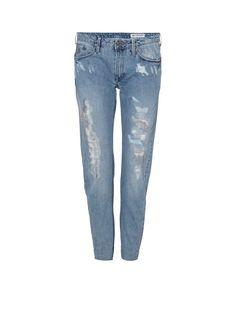 G-Star RAW Type C 3D low rise boyfriend jeans light aged destroyed • de Bijenkorf