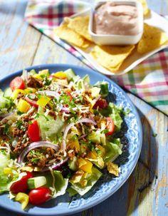 Jauheliha-nachosalaatti | Vappu | Pirkka