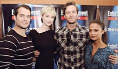 Henry Cavill, Armie Hammer, Alicia Vikander and Elizabeth Debicki at Comic-Con 2015 for The Man From U.N.C.L.E. - 02 - 02.