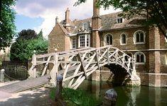 Cambridge England. This is Mathematical bridge, literally the Bridge over the river Cam.