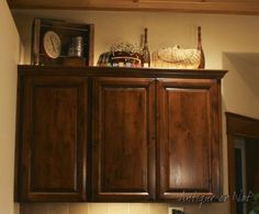 above cabinet decor decorating over cabinets by mara